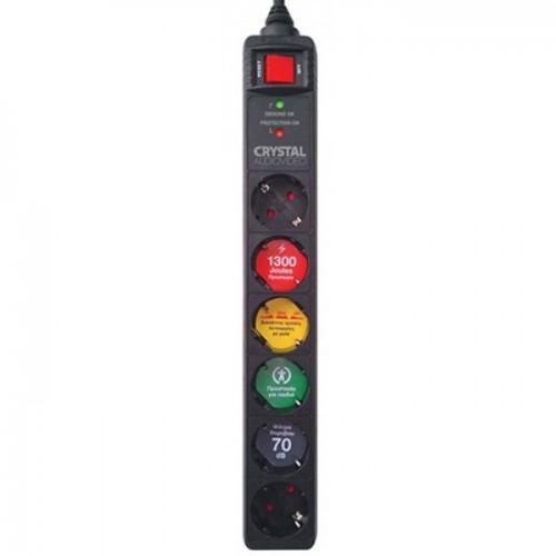 Πολύπριζο- ασφαλείας- 6 -θέσεων -CRYSTAL- AUDIO- CP6-1300-70 -1300 -Joule-